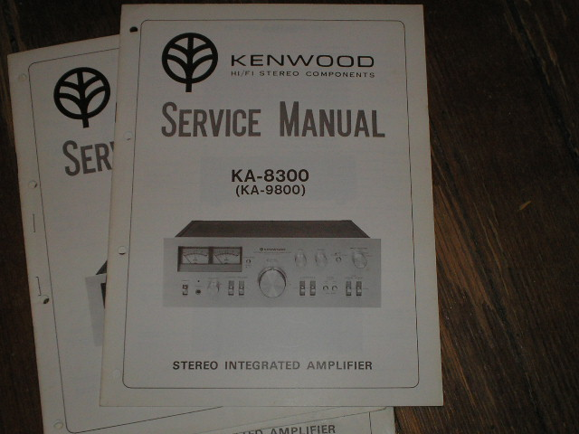 KA-8300 KA-9800 Amplifier Service Manual