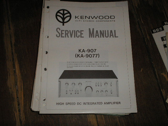 KA-9077 KA-907 Amplifier Service Manual
