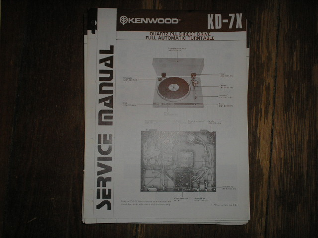 KD-7X Turntable Service Manual  Kenwood Turntables