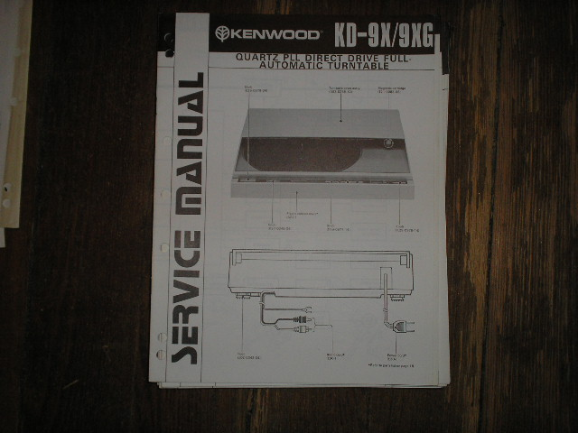 KD-9X KD-9XG Turntable Service Manual  Kenwood Turntables