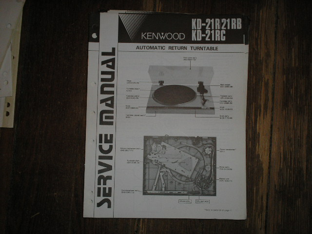 KD-21R KD-21RB KD-21RC Turntable Service Manual  Kenwood Turntables