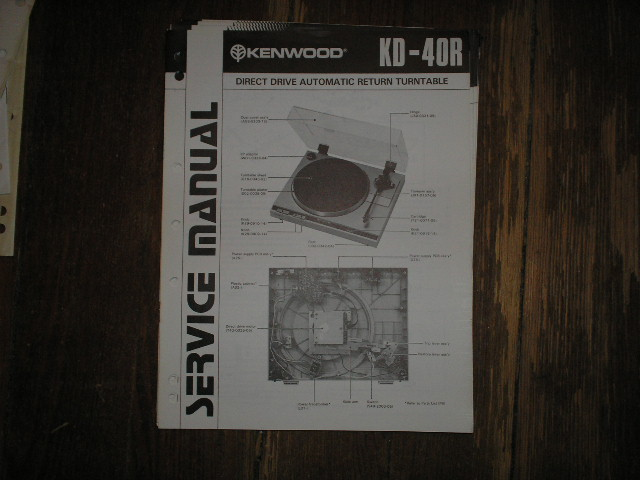 KD-40R Direct Drive Turntable Service Manual
