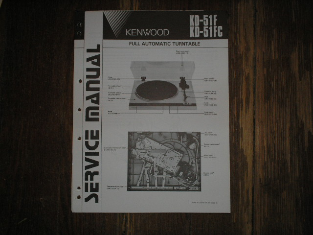 KD-51F KD-51FC Turntable Service Manual  Kenwood Turntables