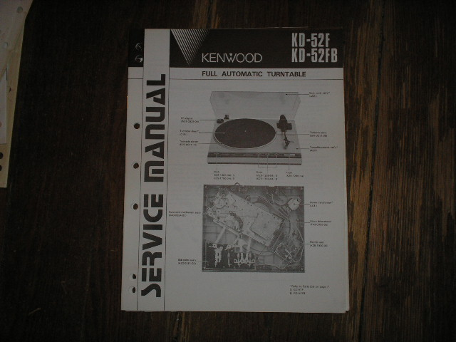 KD-52F KD-52FB Turntable Service Manual  Kenwood Turntables