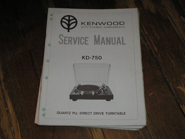 KD-750 Turntable Service Manual  Kenwood Turntables