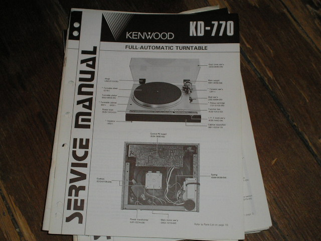 KD-770 Turntable Service Manual  Kenwood Turntables
