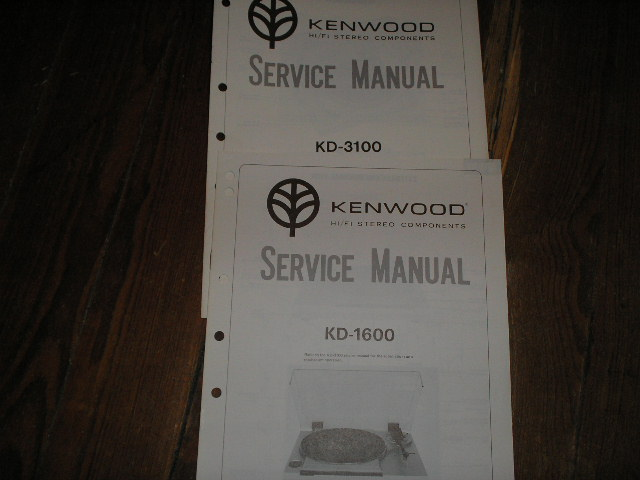 KD-1600 KD-3100 Turntable Service Manual  Kenwood Turntables