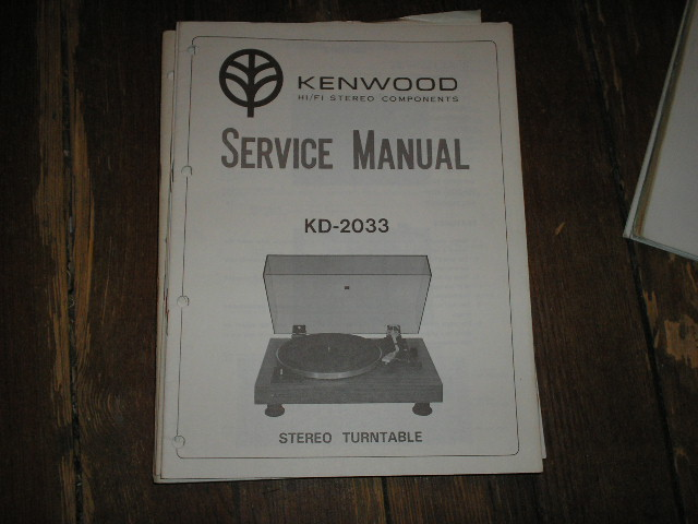 KD-2033 Turntable Service Manual