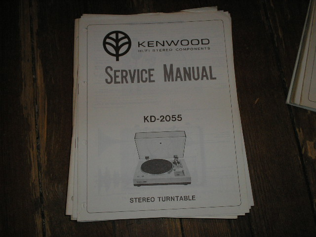 KD-2055 Turntable Service Manual  Kenwood Turntables