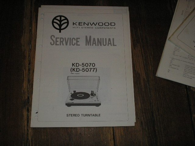KD-5070 KD-5077 Turntable Service Manual