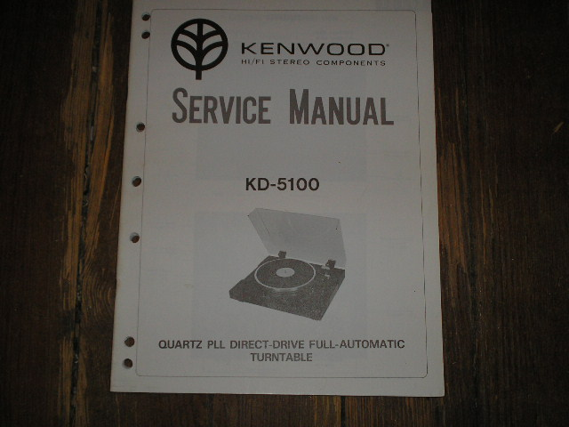 KD-5100 Turntable Service Manual  Kenwood Turntables