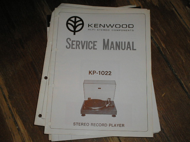 KP-1022 Turntable Service Manual  Kenwood Turntables
