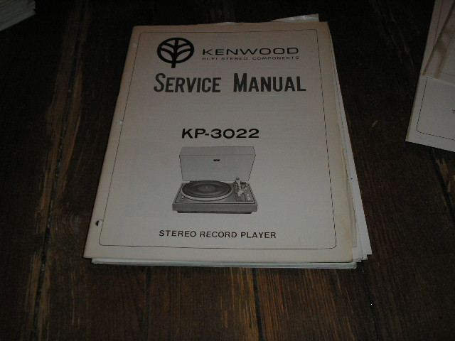 KP-3022 Turntable Service Manual  Kenwood Turntables