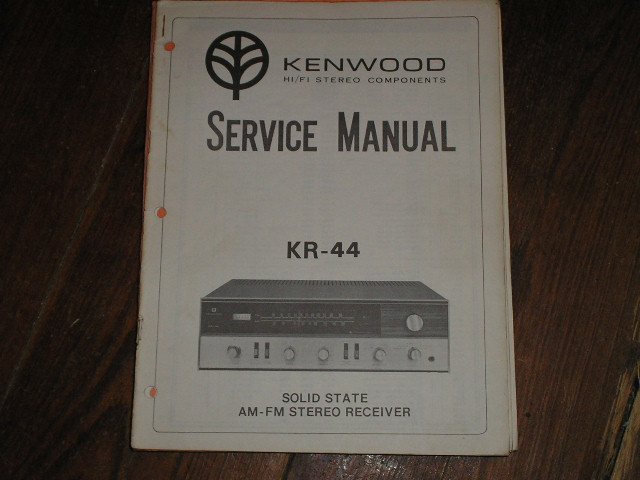 KR-44 Receiver Service Manual  Kenwood Receivers