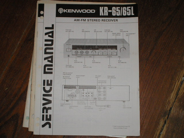 KR-65 KR-65L Receiver Service Manual  Kenwood Receivers