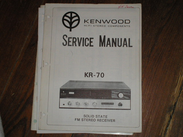 KR-70 Receiver Service Manual  Kenwood Receivers