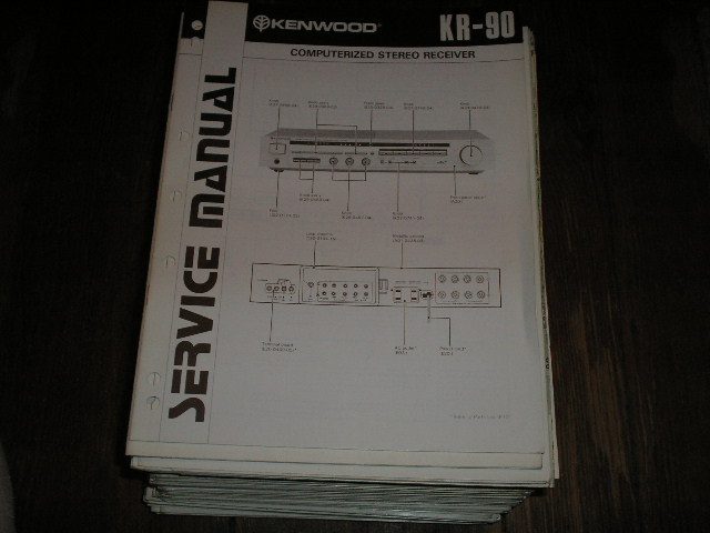 KR-90 Receiver Service Manual  Kenwood Receivers