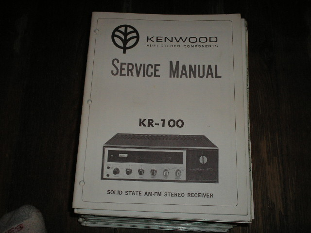KR-100 Receiver Service Manual  Kenwood Receivers