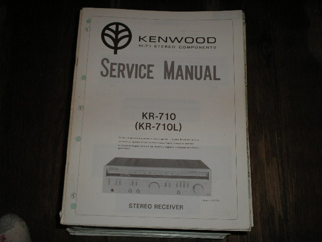 KR-710 KR-710L Receiver Service Manual  Kenwood Receivers