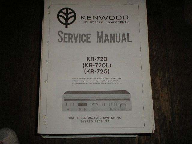 KR-720 KR-720L KR-725 Receiver Service Manual  Kenwood Receivers