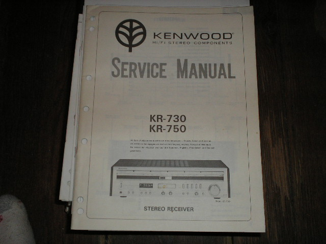 KR-730 KR-750 Receiver Service Manual  Kenwood Receivers