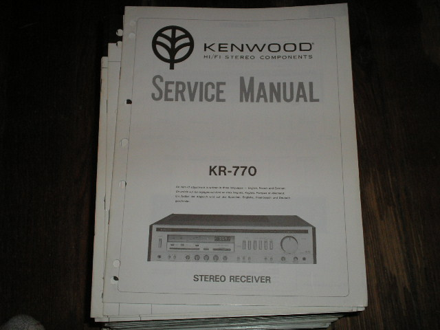 KR-770 Receiver Service Manual  Kenwood Receivers