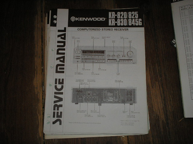 KR-825 KR-820 KR-830 KR-845G Receiver Service Manual  Kenwood Receivers