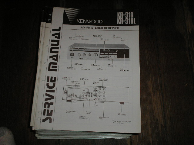 KR-910 KR-910L Receiver Service Manual  Kenwood Receivers