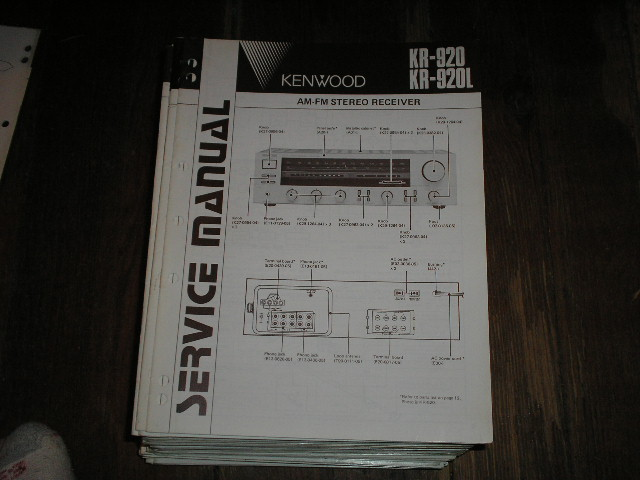 KR-920 KR-920L Receiver Service Manual  Kenwood Receivers