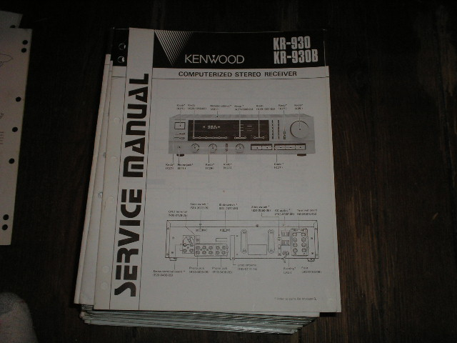 KR-930 KR-930B Receiver Service Manual  Kenwood Receivers