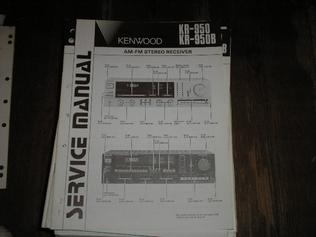 KR-950 KR-950B Receiver Service Manual  Kenwood Receivers