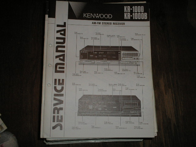 KR-1000 KR-1000B Receiver Service Manual  Kenwood Receivers