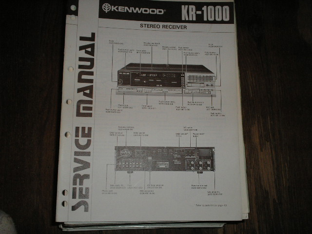 KR-1000 Receiver Service Manual  Kenwood Receivers