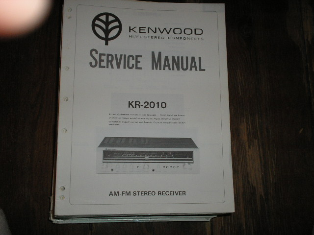KR-2010 Receiver Service Manual  Kenwood Receivers
