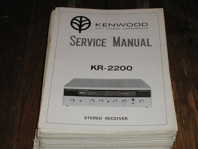 KR-2200 Receiver Service Manual  Kenwood Receivers
