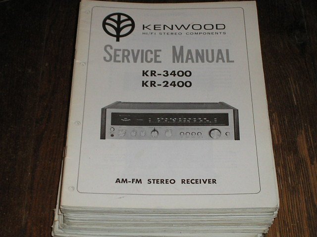KR-2400 KR-3400 Receiver Service Manual  Kenwood Receivers