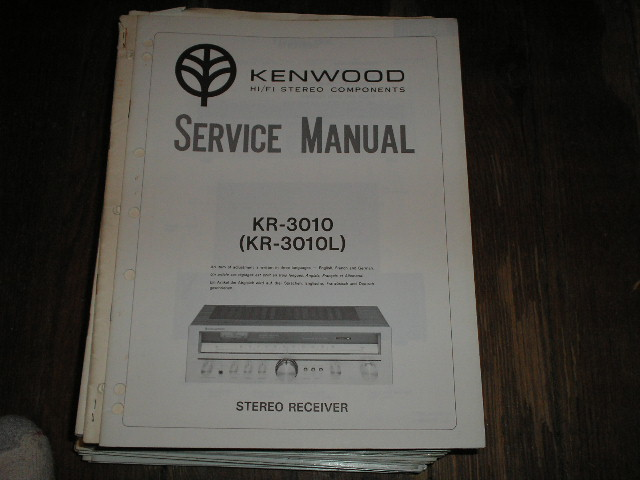 KR-3010 KR-3010L Receiver Service Manual  Kenwood Receivers