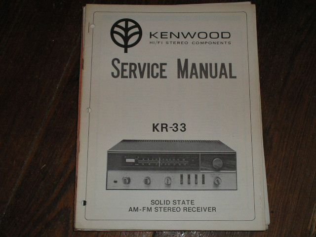 KR-33 Receiver Service Manual  Kenwood Receivers