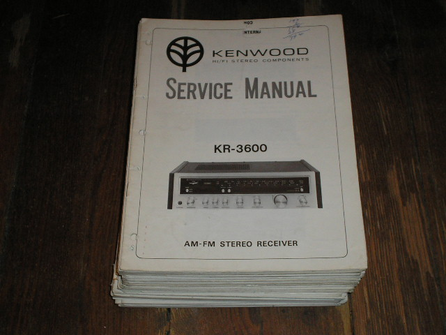 KR-3600 Receiver Service Manual  Kenwood Receivers