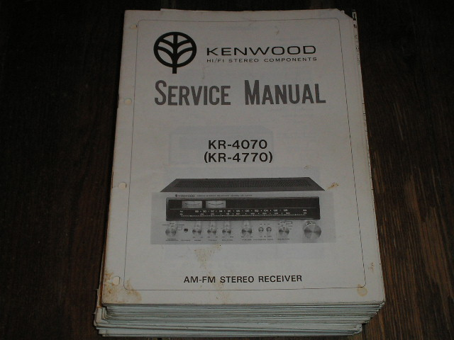 KR-4070 KR-4770 Receiver Service Manual  Kenwood Receivers