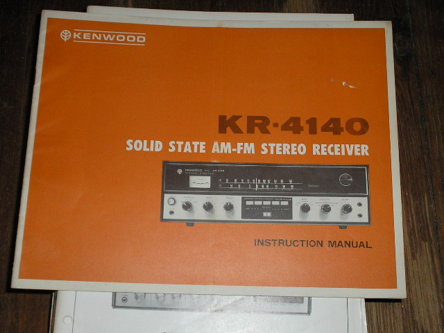 KR-4140 Receiver Operating Manual  Kenwood Receivers