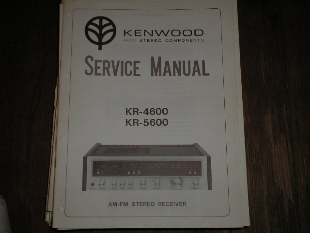 KR-4600 KR-5600 Receiver Service Manual  Kenwood Receivers