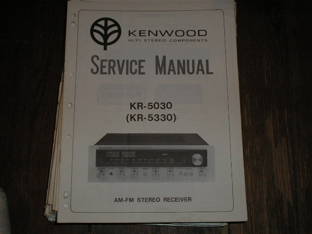 KR-5030 KR-5330 Receiver Service Manual  Kenwood Receivers