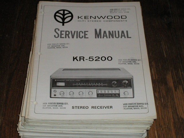 KR-5200 Receiver Service Manual