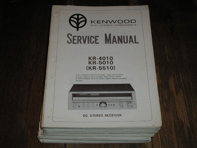 KR-5510 KR-4010 KR-5010 Receiver Service Manual  Kenwood Receivers