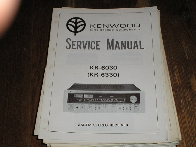 KR-6030 KR-6300 Receiver Service Manual  Kenwood Receivers