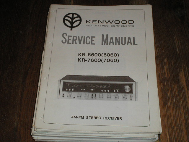 KR-7600 KR-6060 KR-6600 KR-7060 Receiver Service Manual  Kenwood Receivers