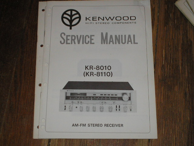 KR-8010 KR-8110 Receiver  Kenwood Receivers