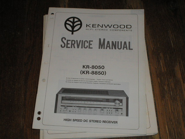 KR-8050 KR-8850  Receiver Service Manual