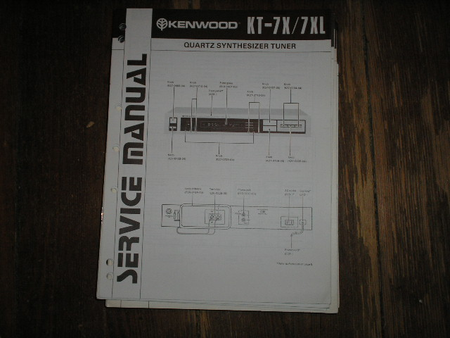 KT-7X KT-7XL Tuner Service Manual B51-1268...88